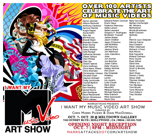I Want My Music Video Art Show - Flyer