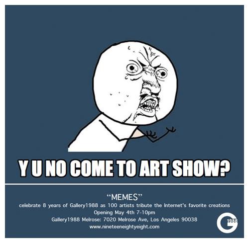 MEMES Exhibition Evite