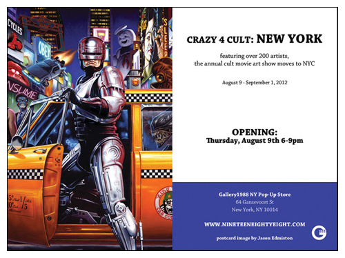 Crazy 4 Cult: NY flyer